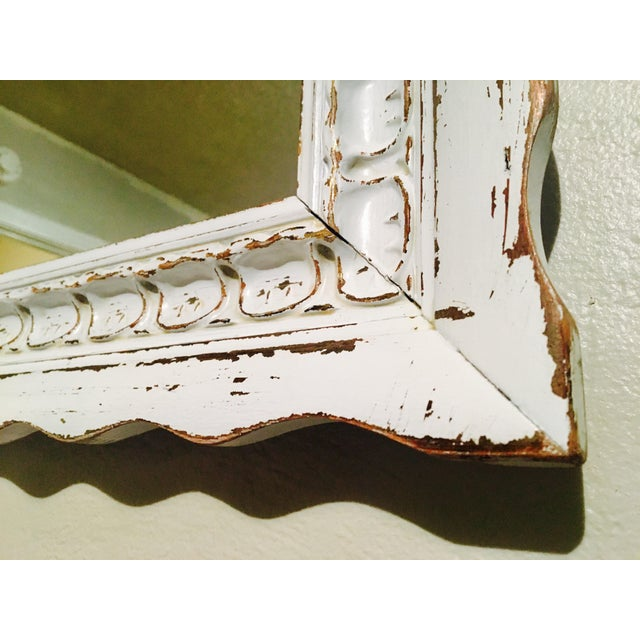 Shabby Chic White Mirror - Image 6 of 6