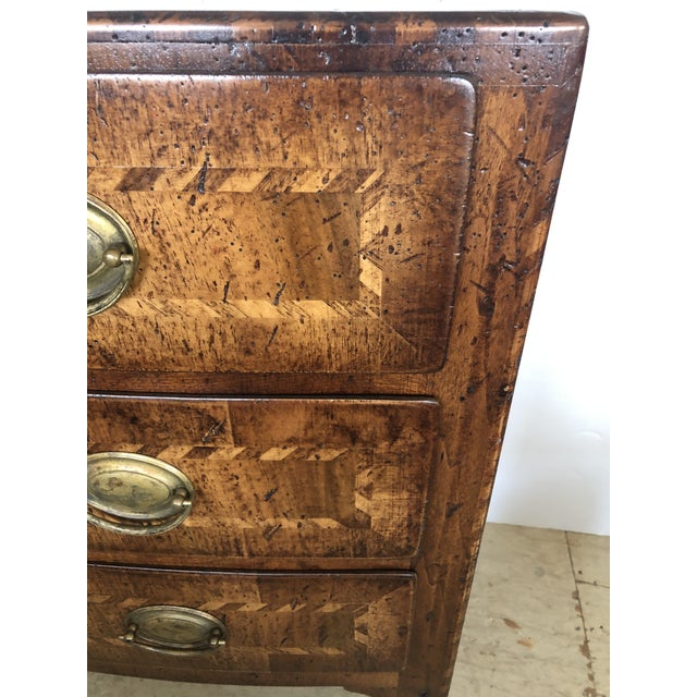 Wood Burled Walnut Chest of Drawers With Beautiful Inlay For Sale - Image 7 of 10