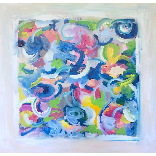 'LiFE GOES ON' original abstract painting - Image 1 of 7