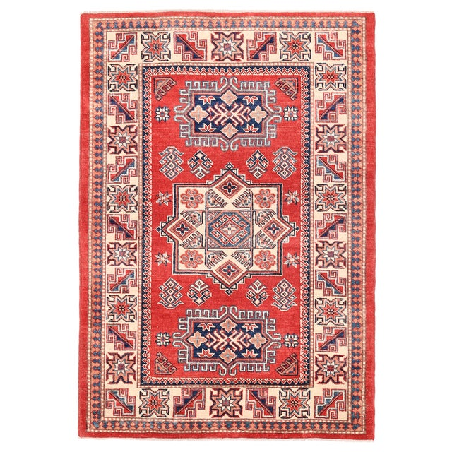 "Pasargad Kazak Wool Rug - 3'11"" X 5'9"" For Sale"