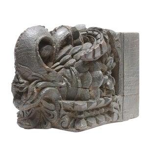 Antique Hand Carved Teak Damask Corbel
