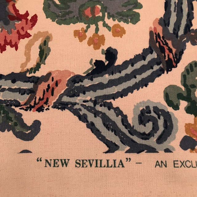 "Lee Jofa's ""New Sevilla"" in Multi Linen Fabric - Almost 3 Yds - Image 4 of 7"