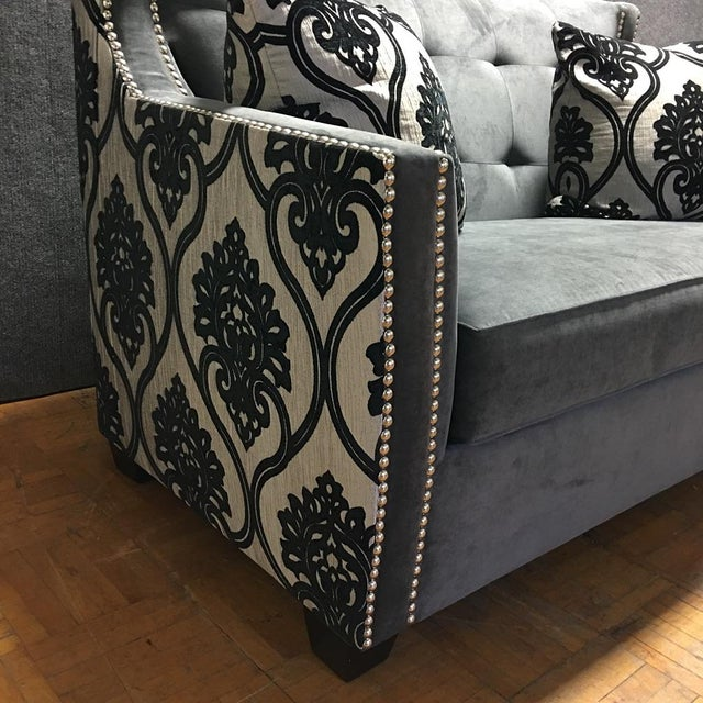 Fleur de Lis Chic Studded Love Seat - Image 4 of 8