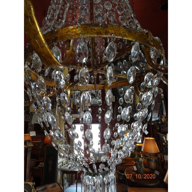 19th Century Italian Crystal and Iron Chandelier For Sale In New Orleans - Image 6 of 13