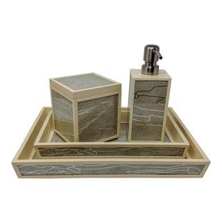 Poodle & Pigeon Bathroom Accessories - 4 Pieces For Sale