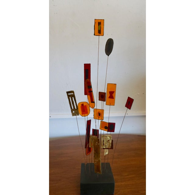Kinetic Abstract Sculpture Bt Curtis Jere For Sale In Palm Springs - Image 6 of 8