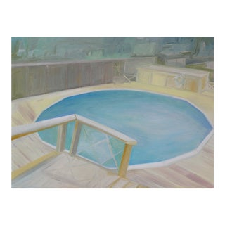"""Urso Contemporary Painting """"Pool Deck"""" For Sale"""