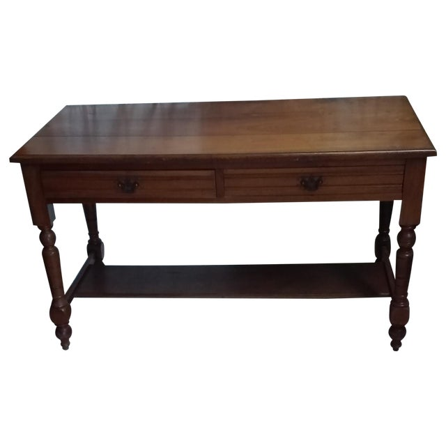 Antique Library Table Chairish