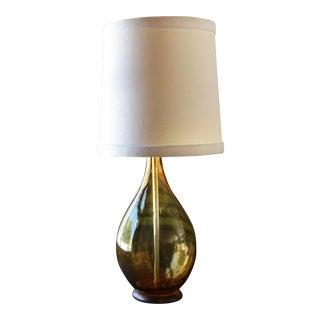 Murano Amber Glass Lamp