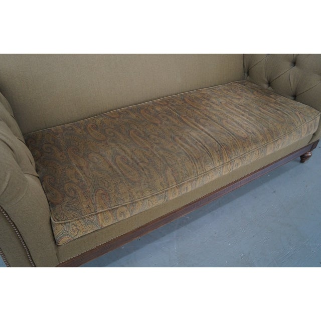 Ethan Allen British Classics Long Tufted Sofa For Sale In Philadelphia - Image 6 of 10