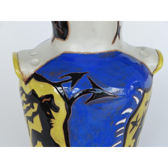 Mid 20th Century Jean Lurçat French Mid-Century Ceramic Vase 22/50 For Sale - Image 5 of 13