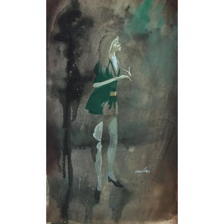 1970's Vintage Caricature Illustration, Julia For Sale