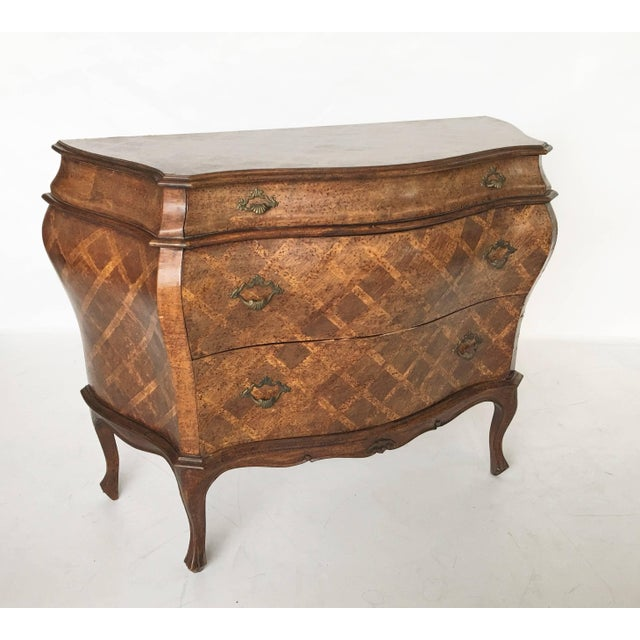 Italian Bombe Parquetry Commode For Sale - Image 10 of 10