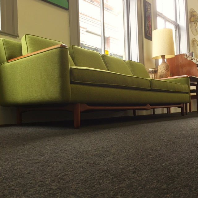 Mid-Century Modern Adrian Pearsall Green Sofa For Sale - Image 3 of 9