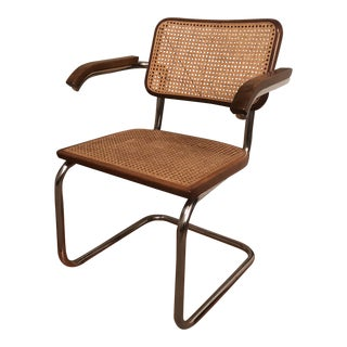 Marcel Brueur Cesca Cane Arm Chair For Sale