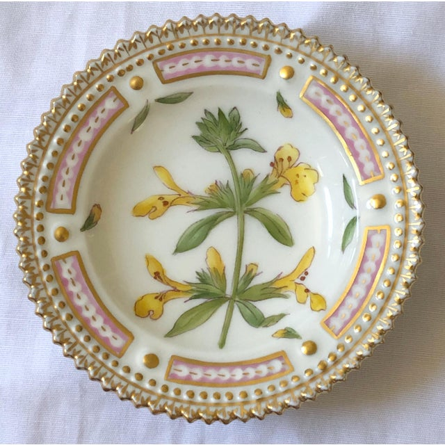 Royal Copenhagen Royal Copenhagen Flora Danica Butter Pat/Caviar Dish, Number 20/3501 For Sale - Image 4 of 4