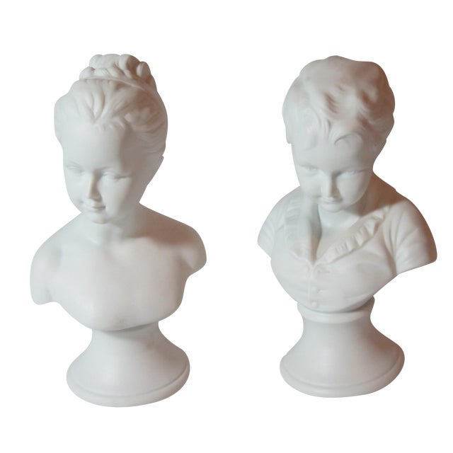 Boy and Girl Busts - Pair - Image 1 of 8