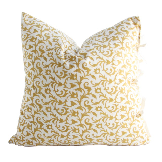Les Indiennes Anais Deco Gold Throw Pillow - Image 1 of 2