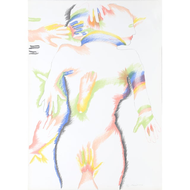 Modern Marisol Escobar, Rainbow People, Lithograph For Sale - Image 3 of 3