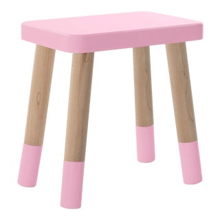 Tippy Toe Kids Chair in Maple and Pink Finish For Sale