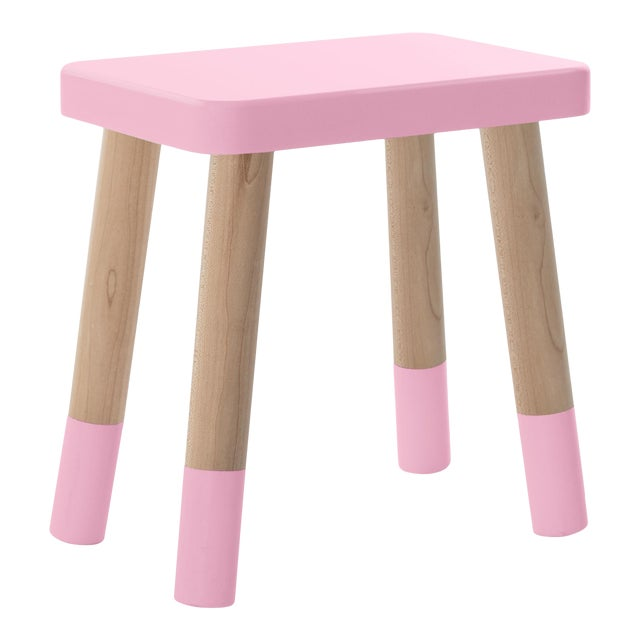 Phenomenal Tippy Toe Kids Chair In Maple And Pink Finish A Pair Dailytribune Chair Design For Home Dailytribuneorg