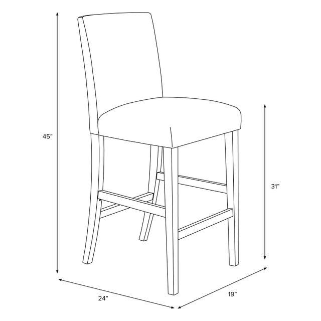 Wood Bar stool in Linen Zebra Cream Black For Sale - Image 7 of 8
