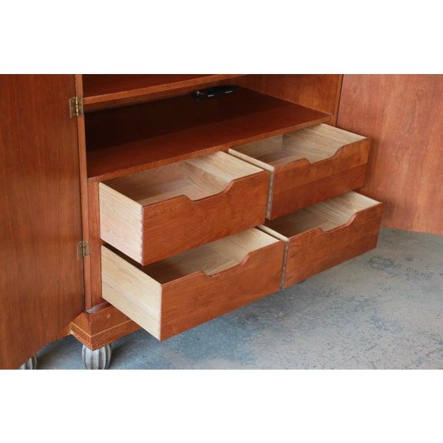 Baker Furniture Art Deco Style Burlwood Armoire - Image 7 of 11
