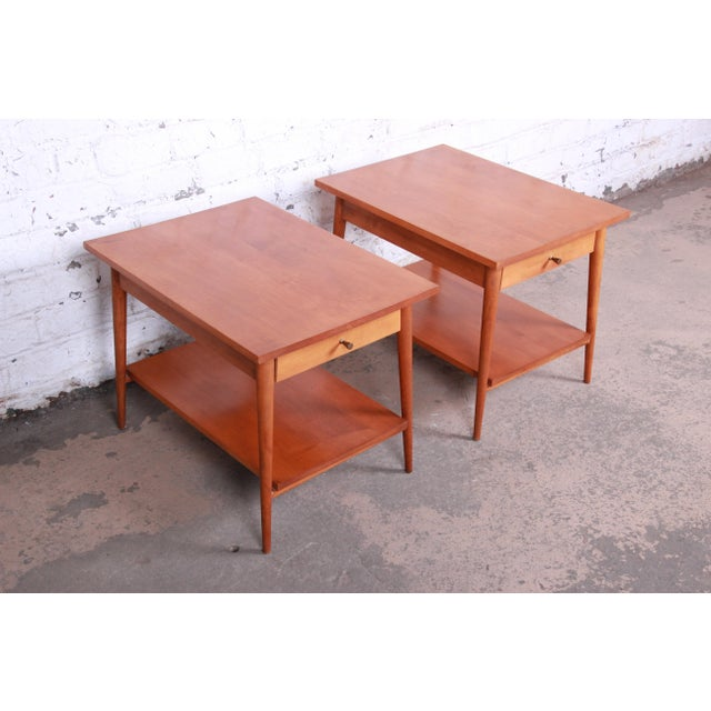 1950s Paul McCobb Planner Group Mid-Century Modern Nightstands or End Tables - a Pair For Sale - Image 5 of 13