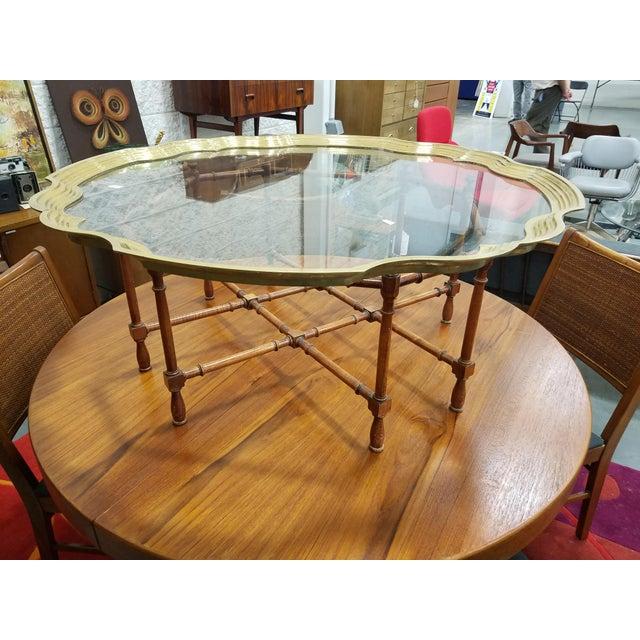 Baker Furniture Pie Crust Coffee Table - Image 3 of 6