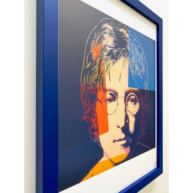 "Andy Warhol Estate Vintage 1990 Framed Pop Art Lithograph Print "" John Lennon "" 1986 For Sale In Kansas City - Image 6 of 13"