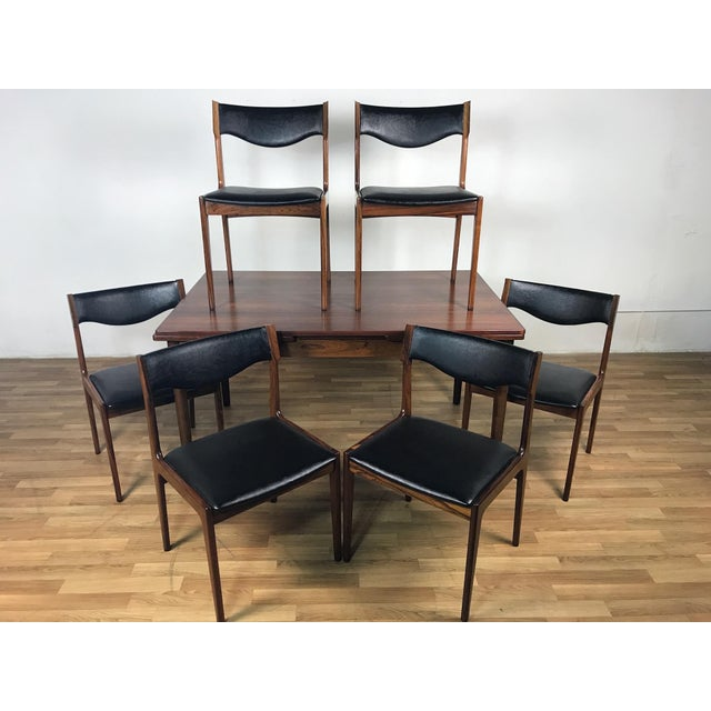 Danish Modern Mid-Century Danish Rosewood Dining Set For Sale - Image 3 of 11
