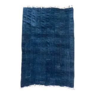 Mali Indigo Blues Textile Throw For Sale