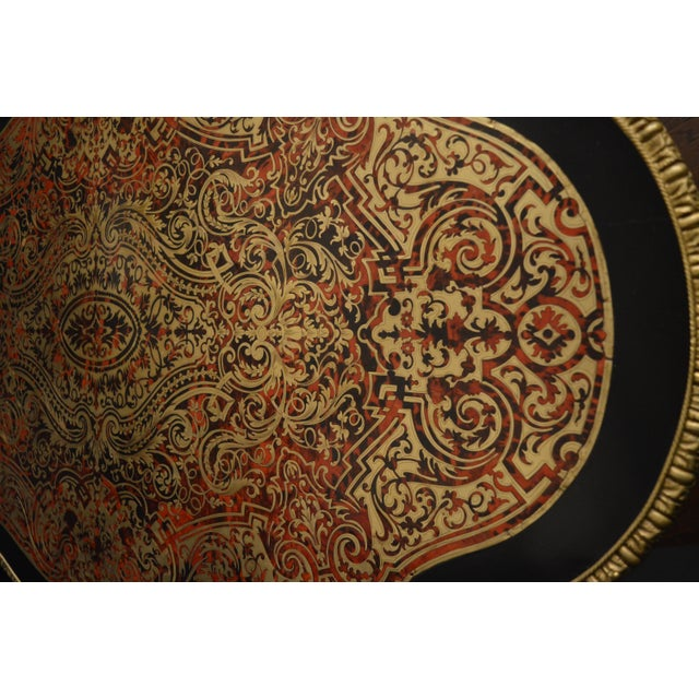 19th Century Tortoise Shell Table With Boulle Marquetry For Sale - Image 9 of 13