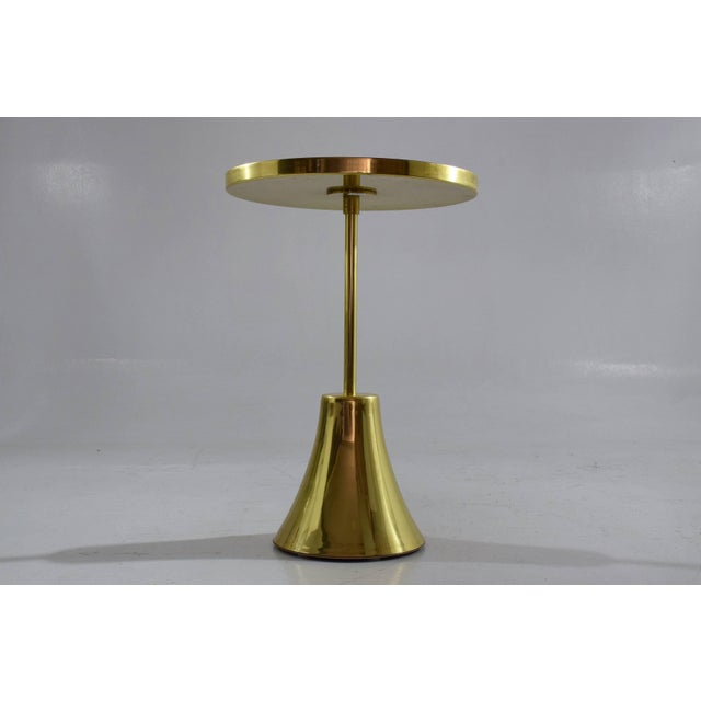 Z-II-I Contemporary Brass Mosaic Side Table, Flow Collection For Sale - Image 6 of 10