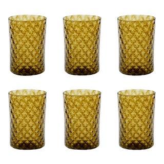 Manzanilla Mandala Drinking Glass - Set of 6 For Sale