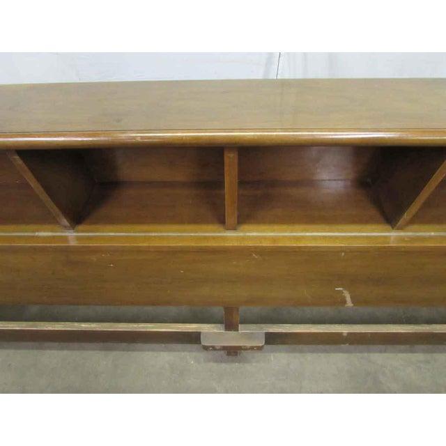 Traditional Golden Oak Headboard For Sale - Image 3 of 9