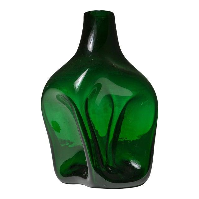 Sophisticated Rare Murano Glass Vase By Toni Zuccheri Decaso