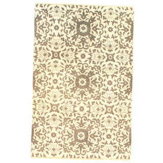 "Pasargad Ny Modern Bamboo Silk Hand-Knotted Area Rug - 3'11"" X 5'11"" For Sale"