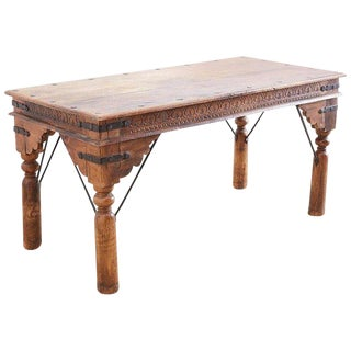 Anglo-Indian Teak Dining or Library Table For Sale