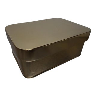 Gold Metal Jewelry Box For Sale
