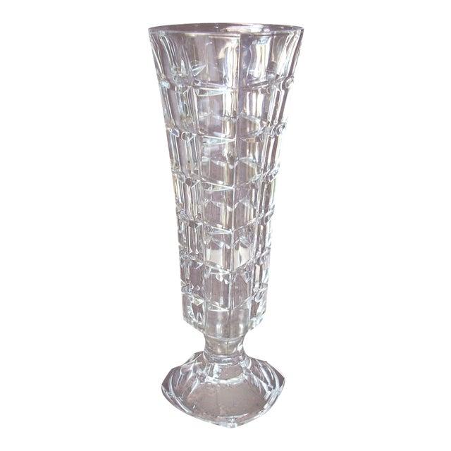 Vintage Pressed Glass Vase Chairish