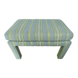 1970s Vintage Drexel Heritage Parsons Style Bench For Sale