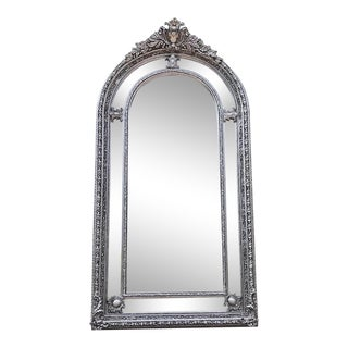 French Louis XVI Style Silver Mirror-New For Sale