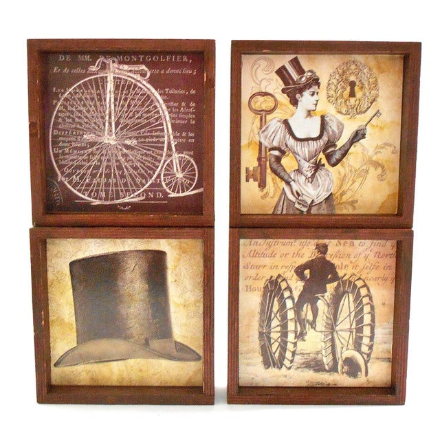 Steampunk Drink Coasters - Set of 12 For Sale - Image 5 of 10