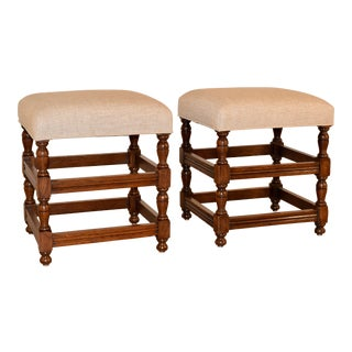 Pair of Turned Stools, Ca. 1900 For Sale