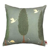 "Image of 16"" Pillow in Tranquility Fabric, Asparagus Green For Sale"