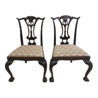 Hickory Chair Company Mahogany Ball Dining Chairs - a Pair For Sale
