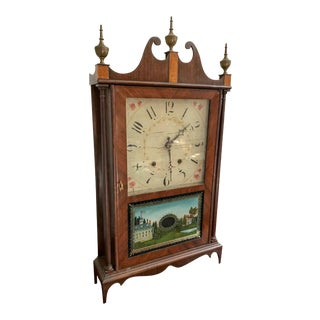 19th Century Eli Terry Pillar & Scroll Shelf Clock For Sale