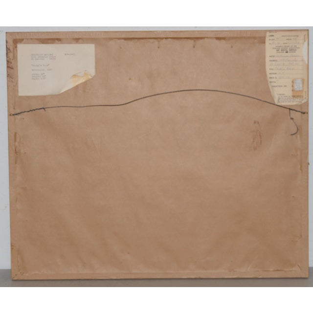"""Katherine Barieau (1917-2010) """"Child's Room"""" Abstract Watercolor C.1967 For Sale In San Francisco - Image 6 of 10"""