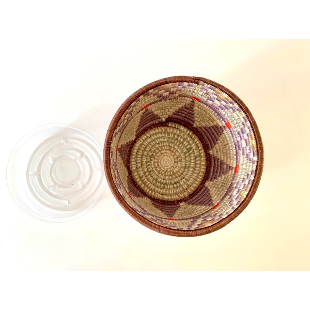 2010s Tribal Style Handwoven Planter/Basket For Sale - Image 5 of 10